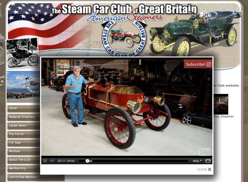 Jay Leno Steam Car Club
