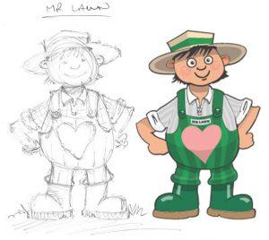 Mr Lawn Illustration