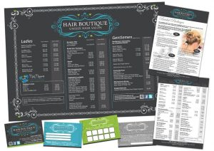 Printed Price Lists, Cards and Flyers