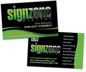 Signzone Graphics Business Cards