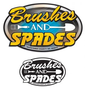 Brushes and Spades Logo