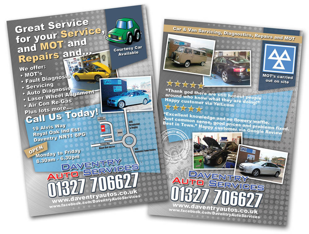 Leaflet design for Daventry