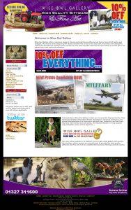 Website Design – Wise Owl Gallery