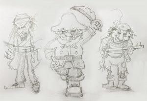 Pesky Pirates – Initial Illustrations