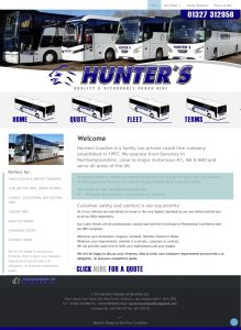Website Design – Hunters Coaches