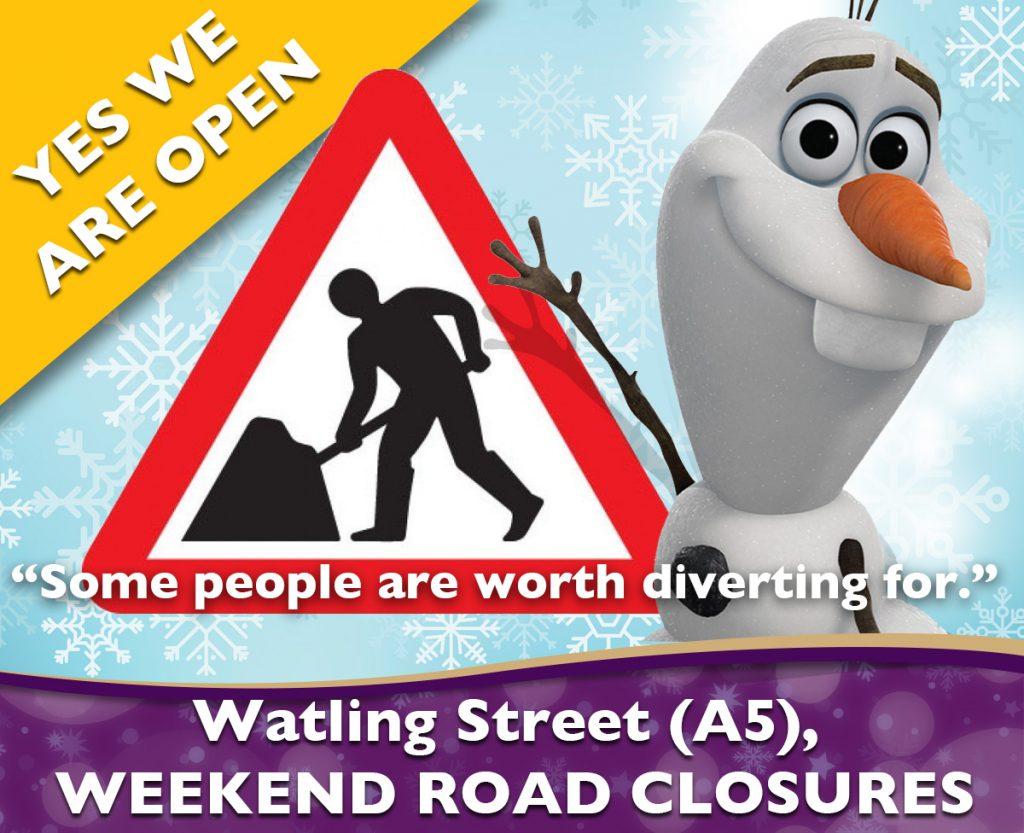 A5 Weekend Road Closures